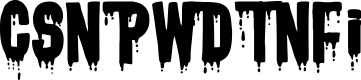 Preview image for CSNPWDTNFI Font