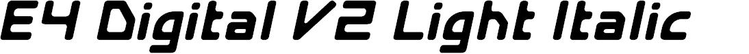 Preview image for E4 Digital V2 Light Italic