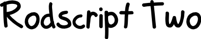 Preview image for Rodscript Two Font