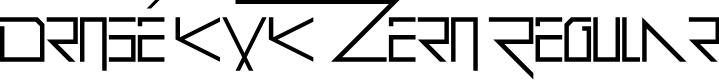 Preview image for Drosé KXK Zero Regular Font