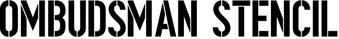 Preview image for Ombudsman Stencil Font