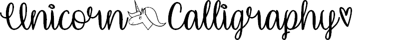 Preview image for Unicorn Calligraphy Font