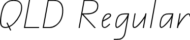 Preview image for QLD Handwriting Font
