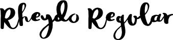 Preview image for Rheydo Regular Font