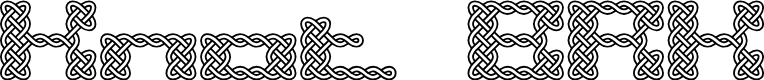 Preview image for Knot BRK Font
