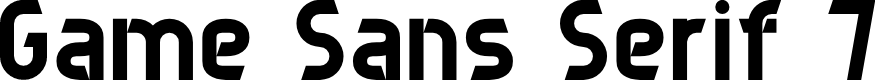 Preview image for Game Sans Serif 7 Font