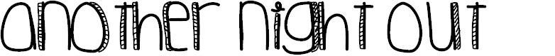 Preview image for AnotherNightOut Font