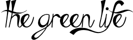 Preview image for The Green Life Font