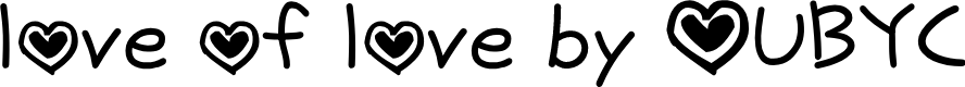 Preview image for love of love by OUBYC Font