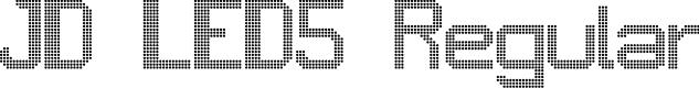 Preview image for JD LED5 Regular Font