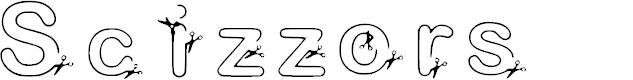 Preview image for Scizzors Font