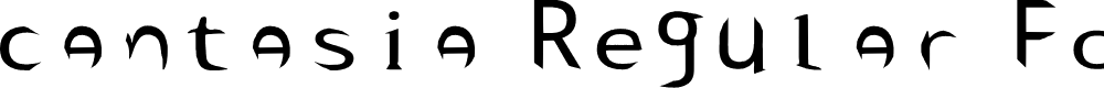 Preview image for cantasia Regular Fonty Font
