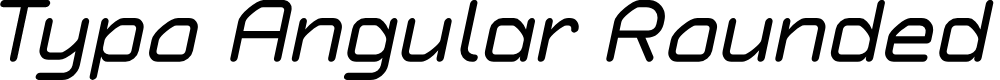 Preview image for Typo Angular Rounded Demo Italic