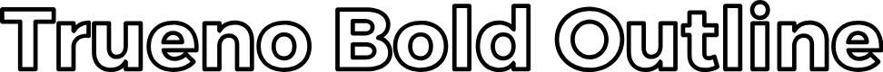 Preview image for Trueno Bold Outline