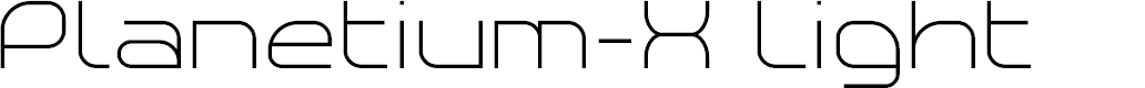 Preview image for Planetium-X Light Demo Font