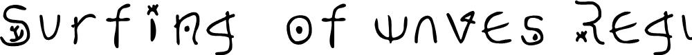 Preview image for Surfing  of waves Regular Fonty Font