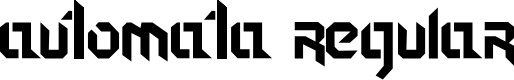 Preview image for Automata Regular Font