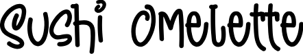 Preview image for Sushi Omelette DEMO Font