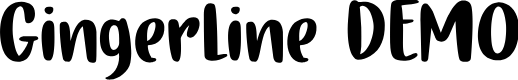 Preview image for Gingerline DEMO Regular Font