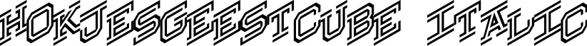 Hokjesgeestcube Italic