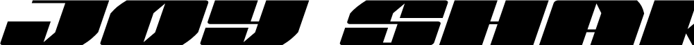 Joy Shark Semi-Expanded Italic