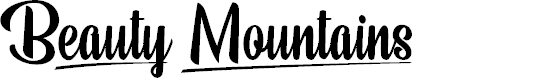 Preview image for Beauty Mountains Personal Use Font