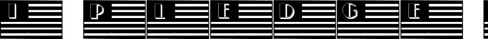 Preview image for 101!  I Pledge Allegiance Font