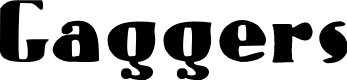 Preview image for Gaggers Font
