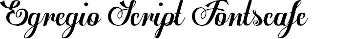Preview image for Egregio Script_demo Font