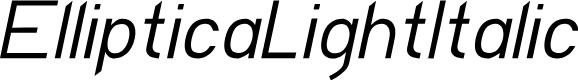 Preview image for EllipticaLightItalic