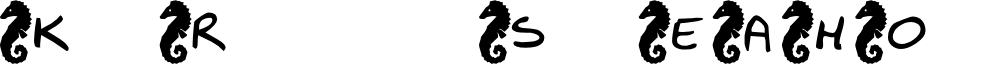 Preview image for KR Seahorse Font
