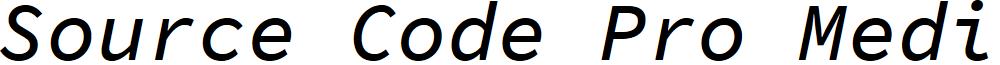 Source Code Pro Medium Italic