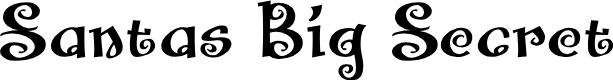 Preview image for Santas Big Secret BB Font
