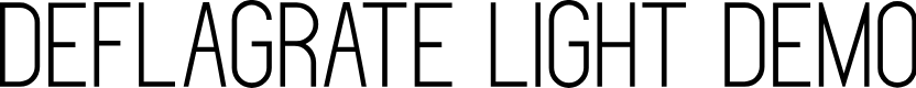Preview image for Deflagrate Light DEMO Font