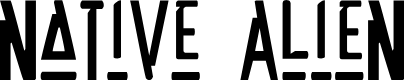 Preview image for Native Alien Font