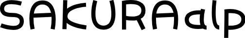 Preview image for SAKURAalp Font