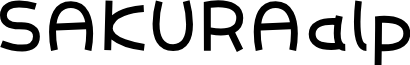 SAKURAalp font