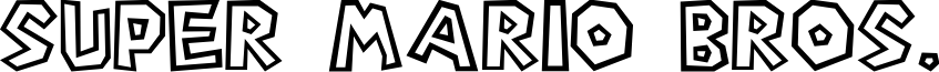 Super Mario Bros. font