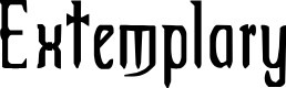 Preview image for Extemplary Font