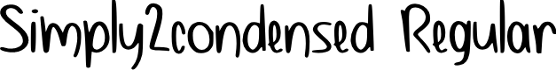 Preview image for Simply2_condensed Regular Font
