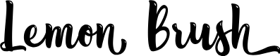 Preview image for Lemon Brush - Personal Use Font