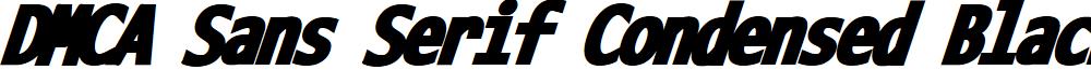 DMCA Sans Serif Condensed Black Italic