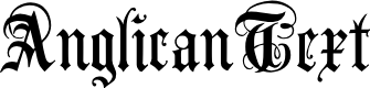 Preview image for AnglicanText Font