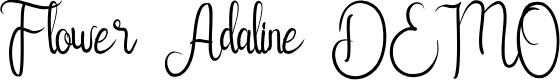 Preview image for Flower Adaline DEMO Font