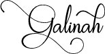 Preview image for Galinah Font