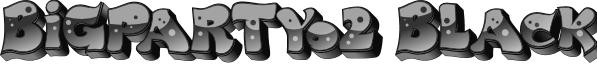 BigPartyO2Black font
