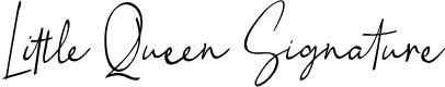 Preview image for Little Queen Signature Font