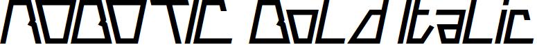 ROBOTIC Bold Italic