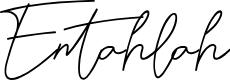Preview image for Entahlah Font