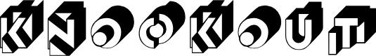 Preview image for Knockout Regular Font